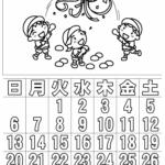 ぬり絵 カレンダー10月(2019年)その1